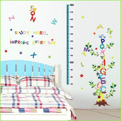 Alphabet Fun Height Chart - Sticker