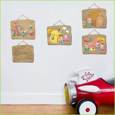 3 Little Pigs Frame Decals - Decals