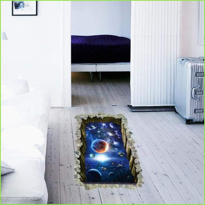 3D Space Planets Wall Decal - Decals