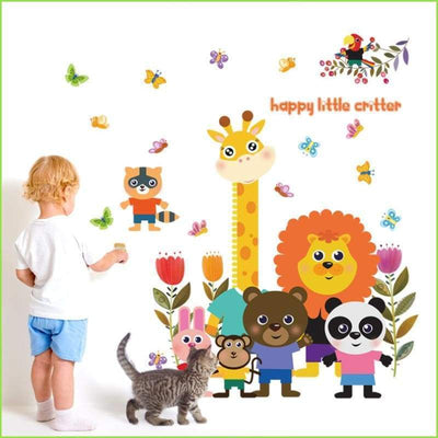 Colourful Happy Animals Decal - Decals