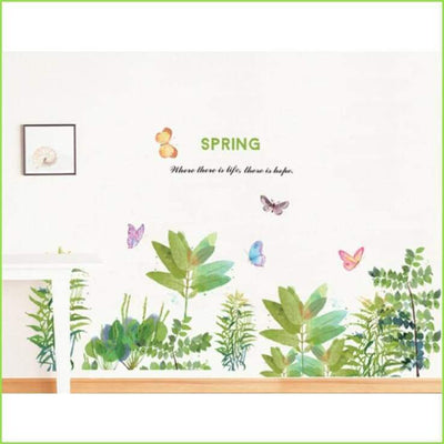 Spring Watercolour Skirting Border - Stickers