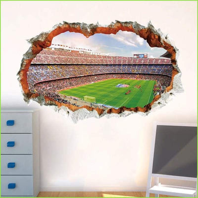 3D Football Pitch Decal - Decals
