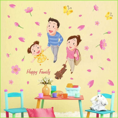 Happy Family Wall Sticker - Stickers