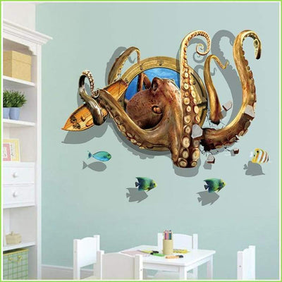 3D Under The Sea - Sticker