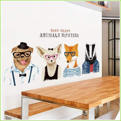 Animal Hipsters Decal - Decals