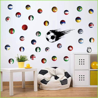 Football Dots Decals - Decal