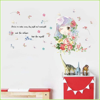 Beautiful Girl Quote - Sticker