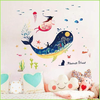 Whale Sea Decal - Decals