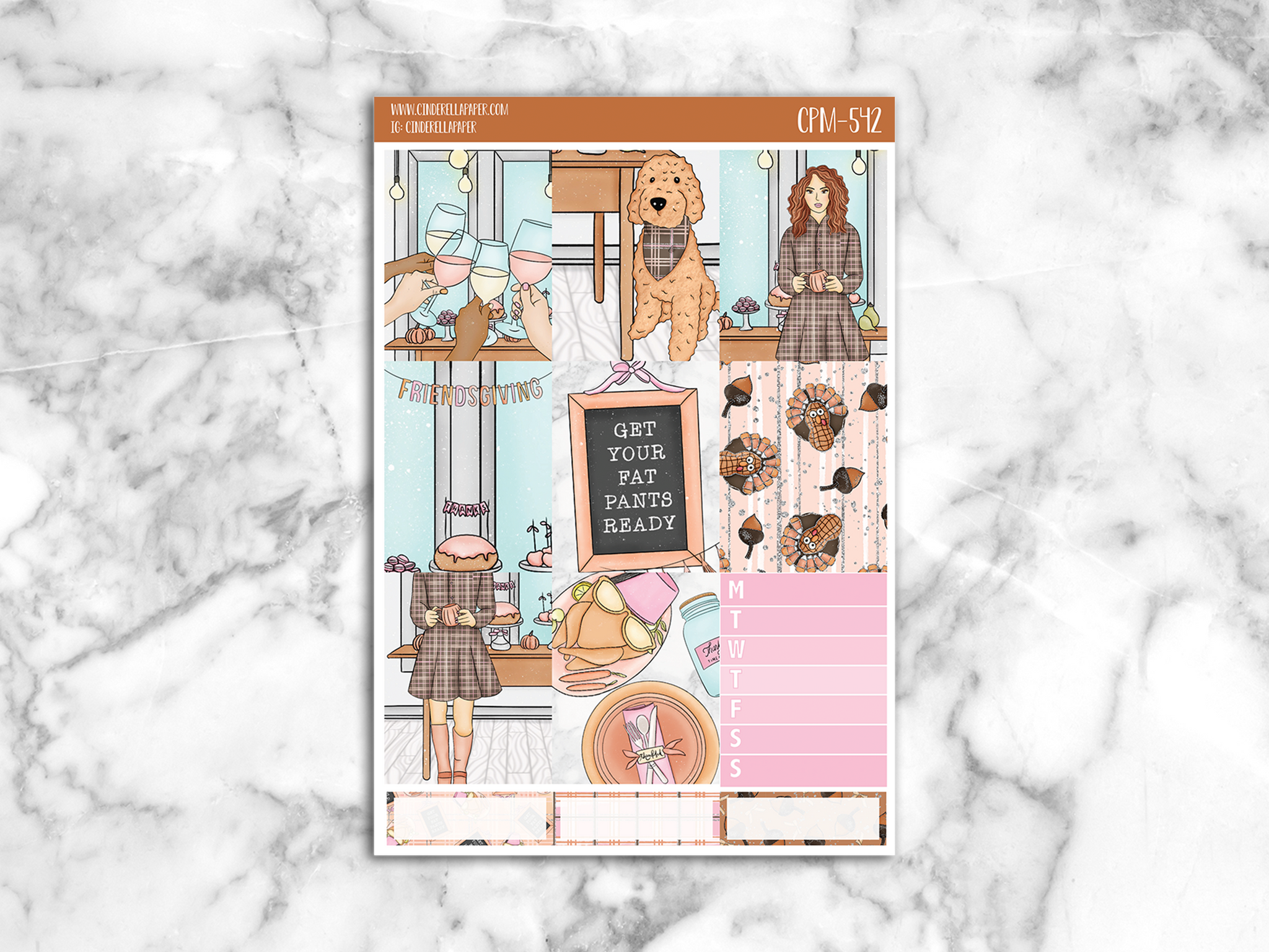 Friendsgiving Mini Kit || CPM-542 - CinderellaPaper