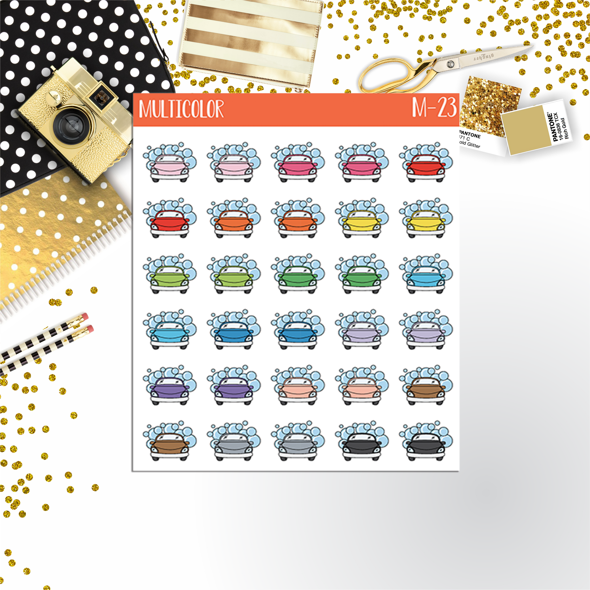 WASH CAR planner stickers || M-23 - CinderellaPaper