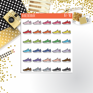 Running Shoes planner stickers || M-40 - CinderellaPaper