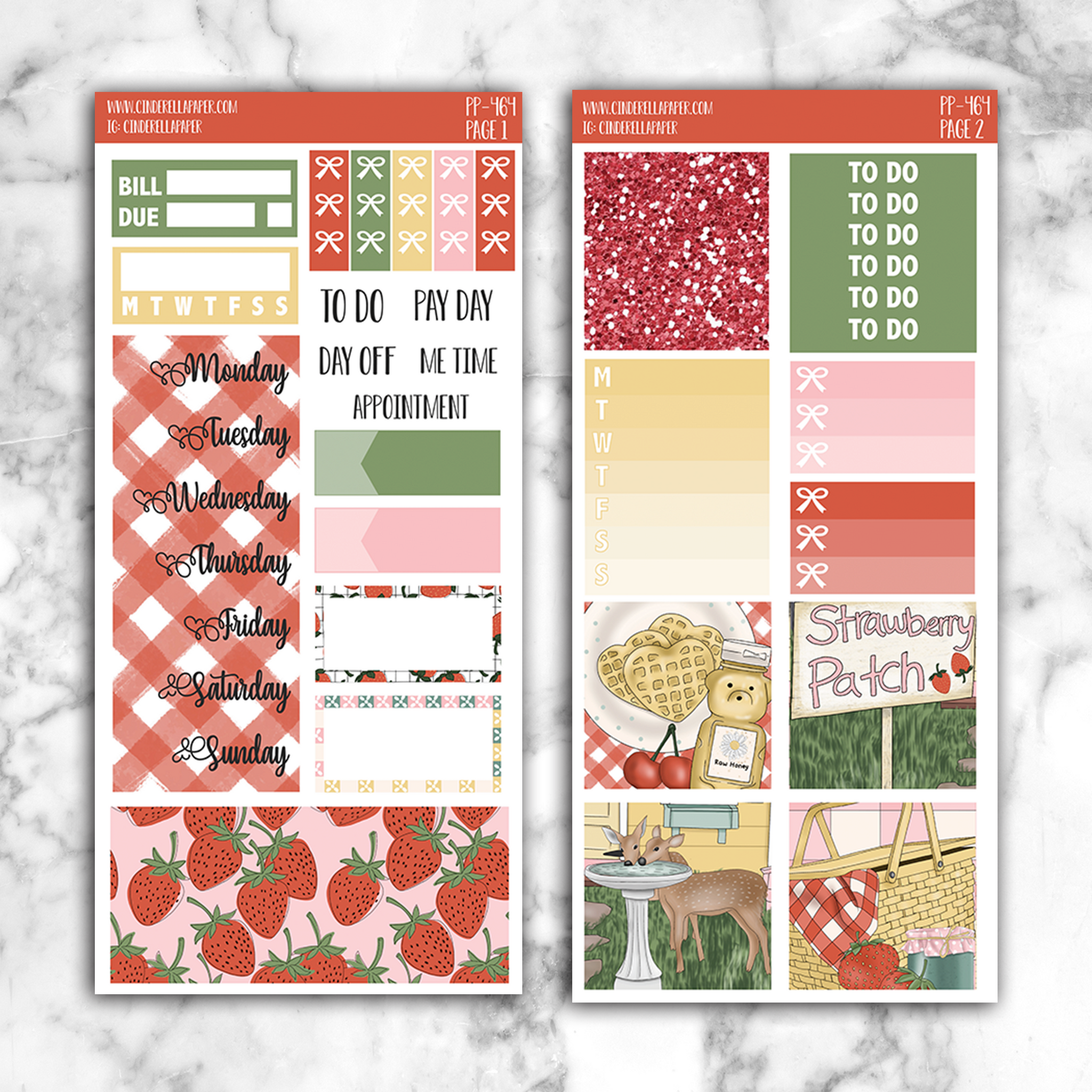 Strawberry Patch PP Kit || PP-464 - CinderellaPaper