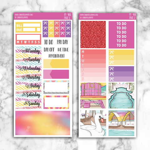 Miami Sunset PP Kit || PP-466 - CinderellaPaper
