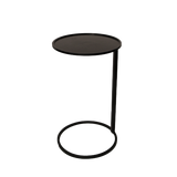 Black Sofa Talk Side Table