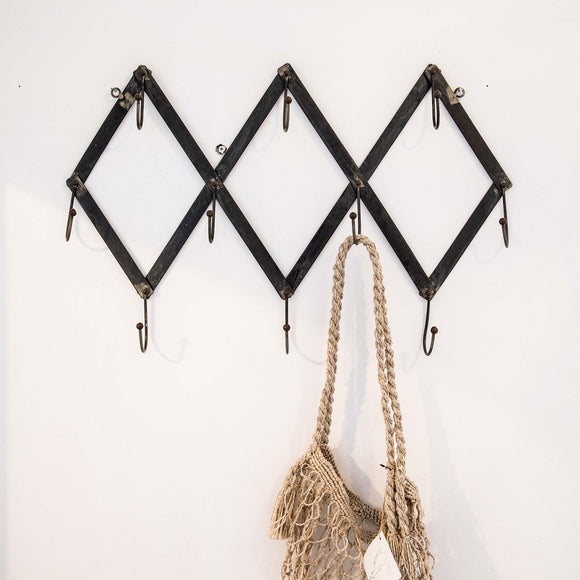 Rustic Ten Hook Rack