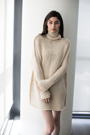Alpaca   Chunky knit  Cream sweater. - RoseUniqueStyle