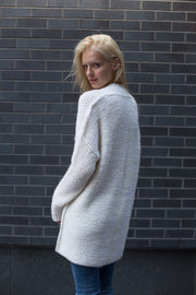 White alpaca knit cardigan. - RoseUniqueStyle