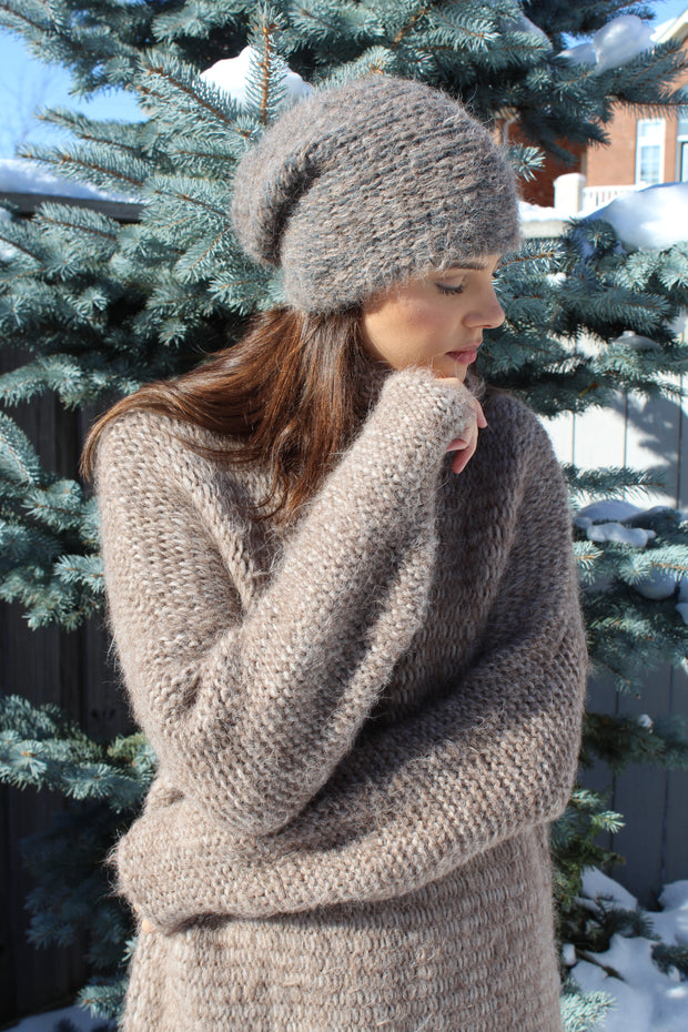 Oversized alpaca sweater dress