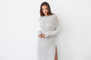Oversized knit dress.