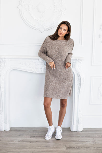 Alpaca Oversized sweater dress - Roseuniquestyle
