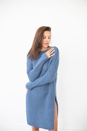Alpaca Knit midi dress.