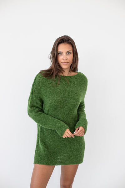 Alpaca oversize knit sweater - Roseuniquestyle