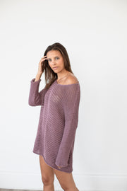 Peruvian   cotton loose knit sweater dress.