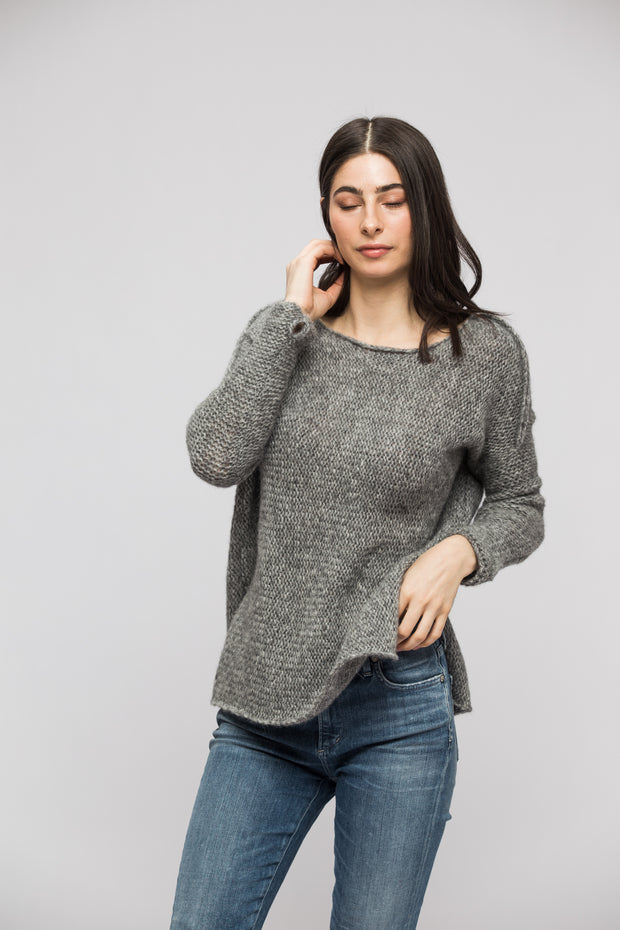 Grey Alpaca sweater. - RoseUniqueStyle