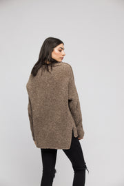 Slouchy oversized   knit women sweater. - RoseUniqueStyle