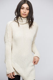 Off white  Chunky knit Alpaca  women sweater dress. - RoseUniqueStyle