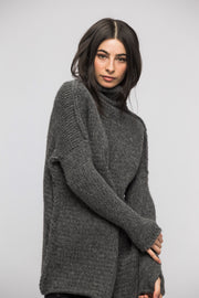 Knit alpaca  sweater dress - Roseuniquestyle.