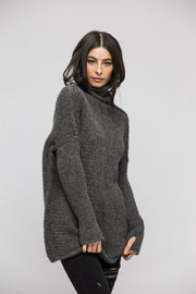 Oversized alpaca chunky knit sweater for woman . - RoseUniqueStyle