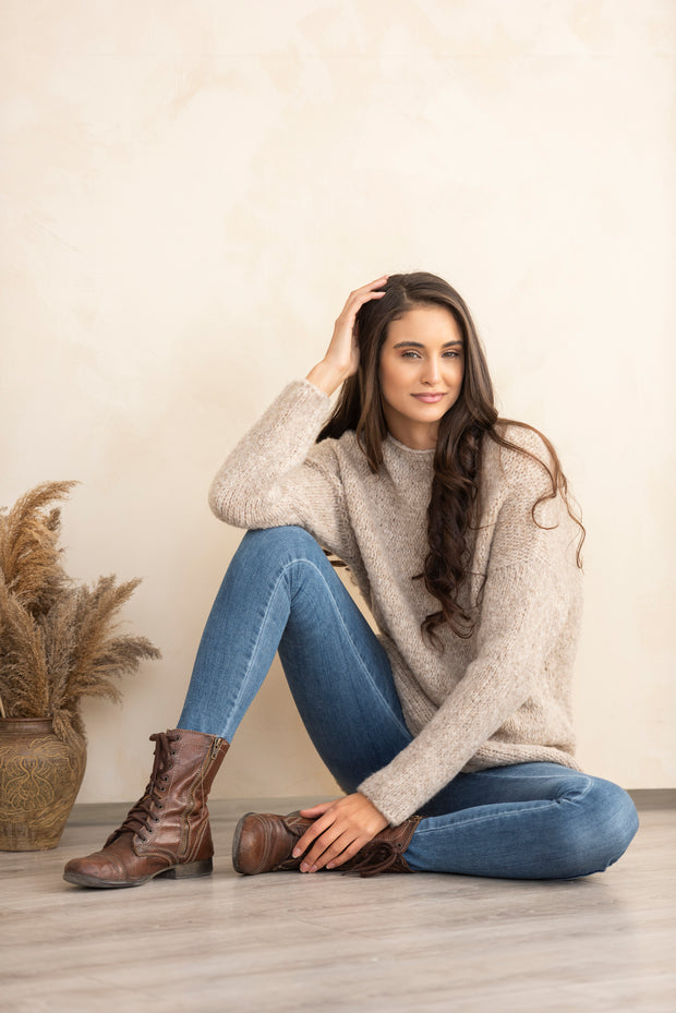Alpaca  wool oversized knit sweater women