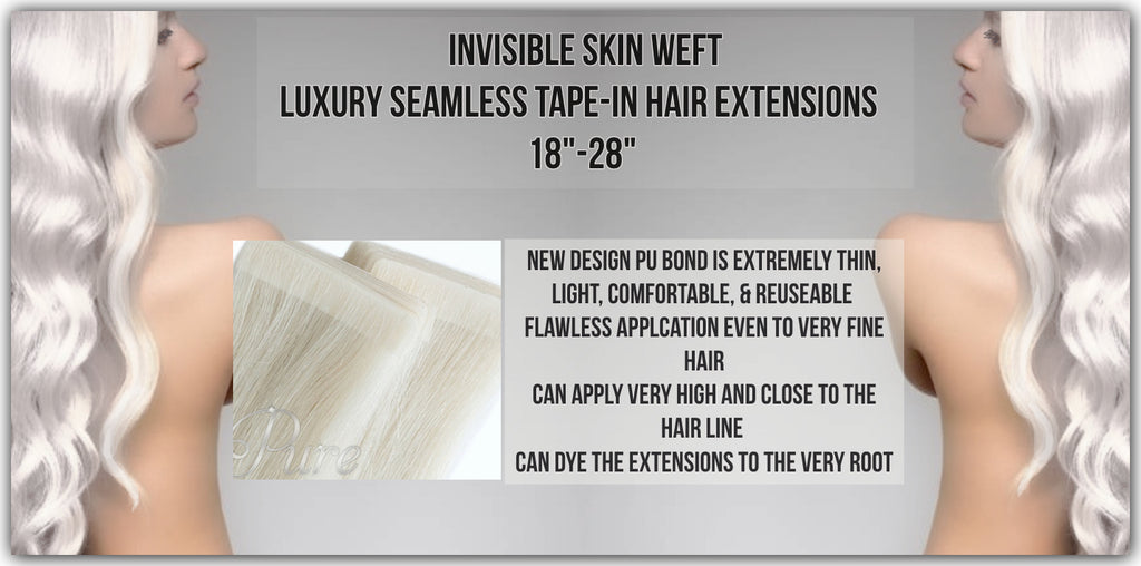 Invisible skin weft - invisi-tape skin weft invisible tape hair extensions