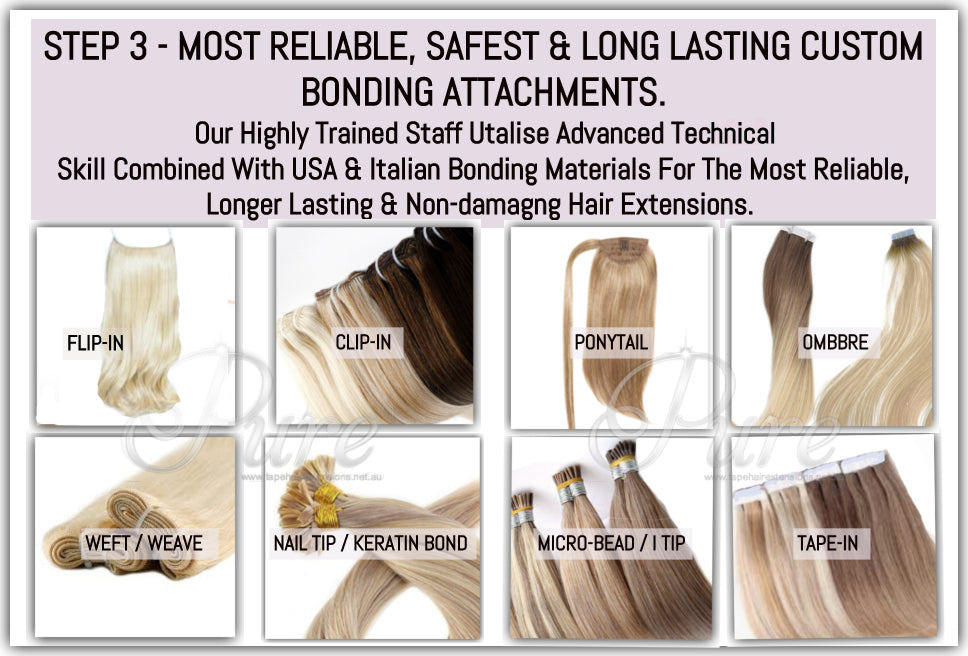 The most extensive range of professional high end hair extensions colours, lengths, styles and lengths