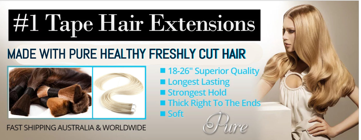 Largest & Best Range Of Tape Hair Extensions Australia
