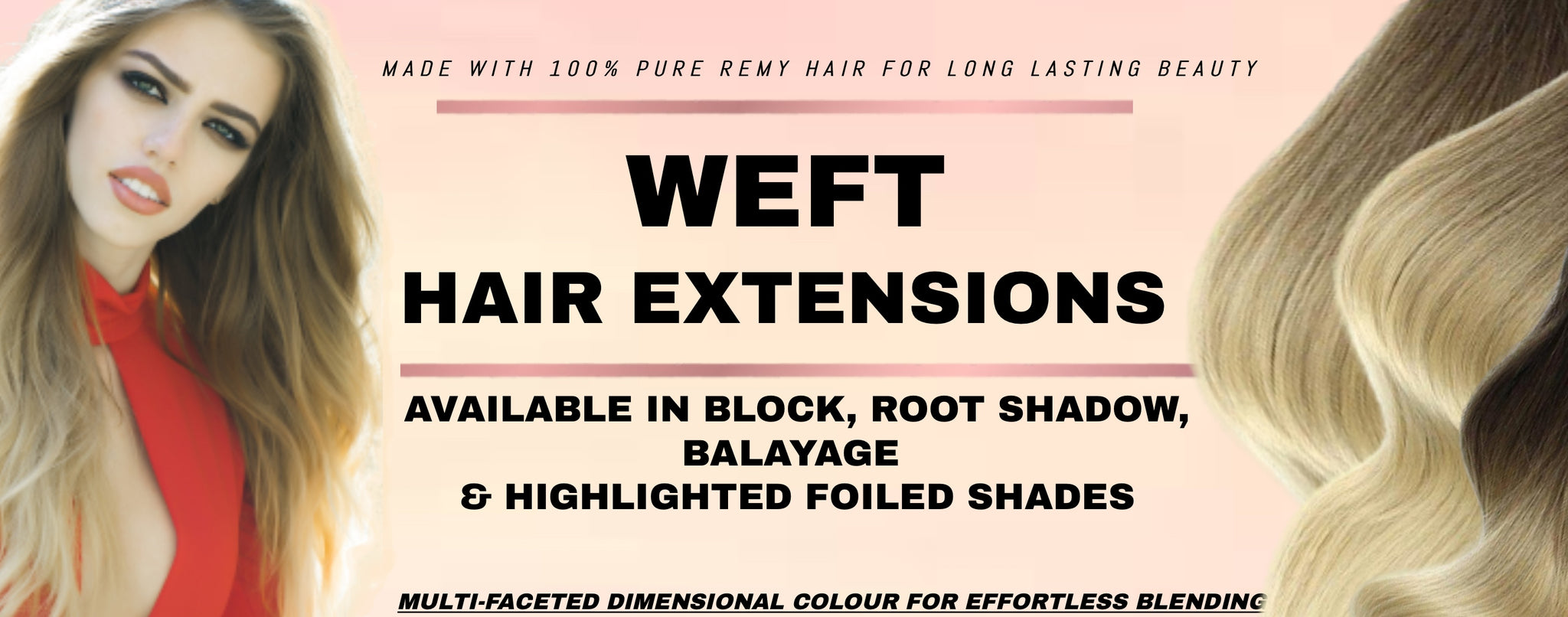Best and most beautiful range of weft hair extensions Australia