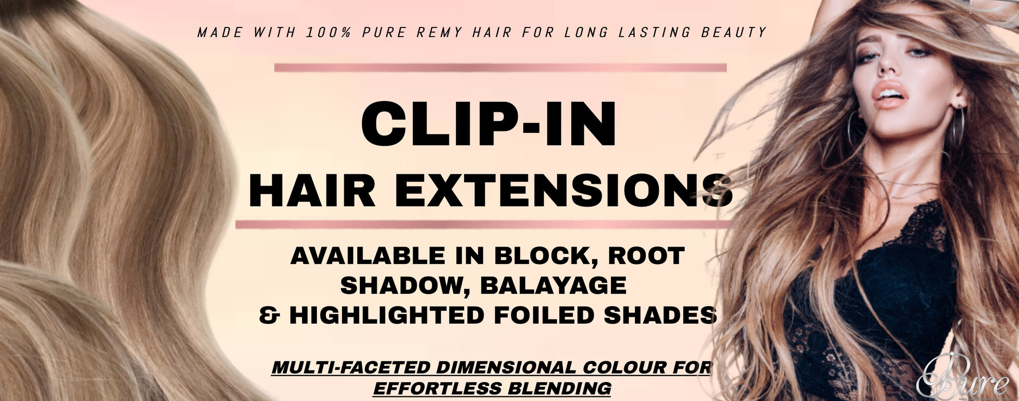 Extra thick clip in hair extensions Australia