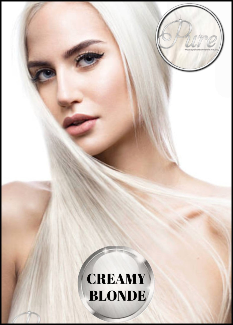 Creamy blonde hair extensions, most beautiful creamy blonde hair extensions made from 100% remy human Russian grade hair.