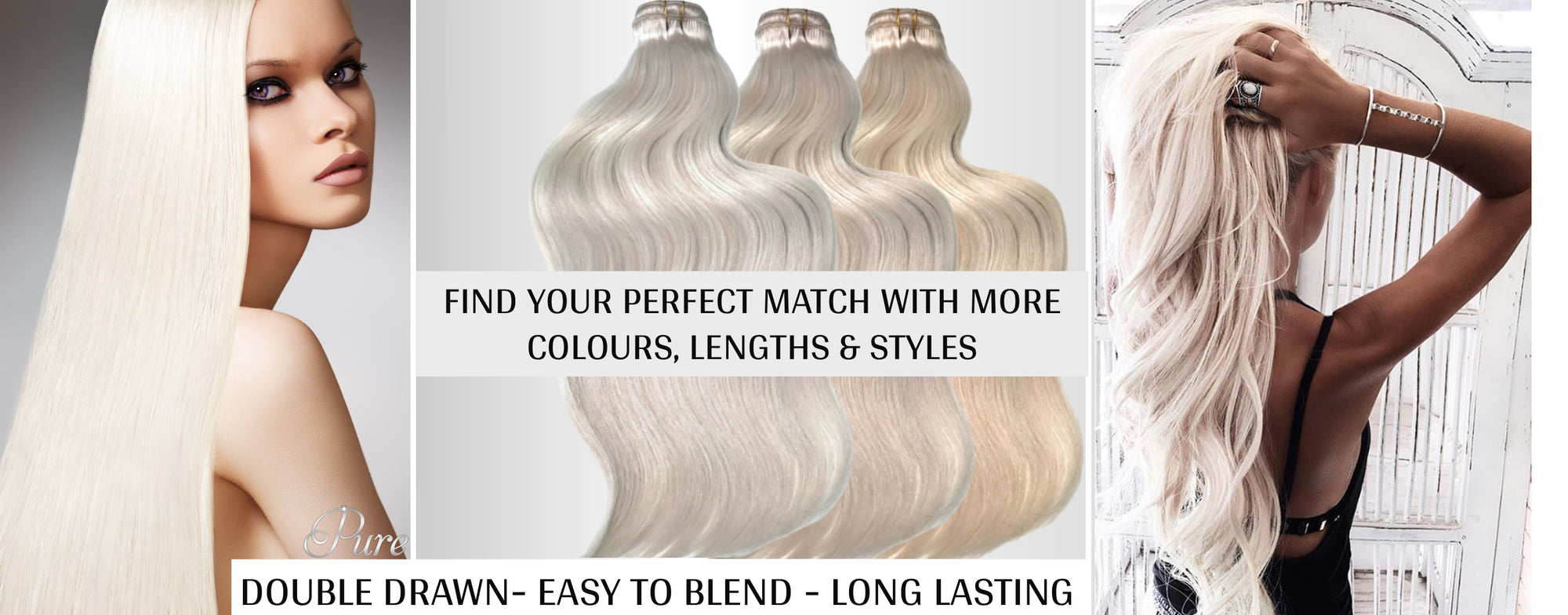 Double drawn best weft hair extensions