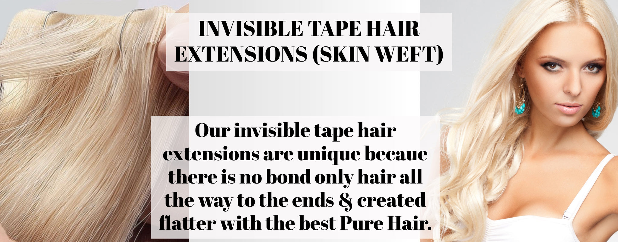 invisible tape hair extensions skin weft Australia