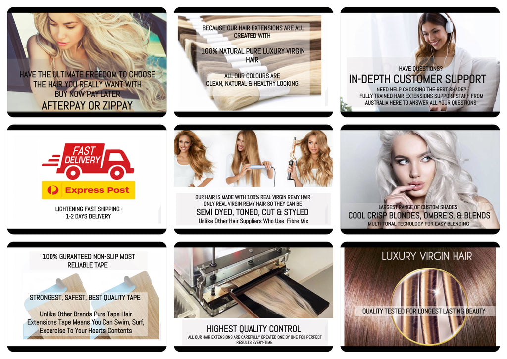 hair extensions colour chart