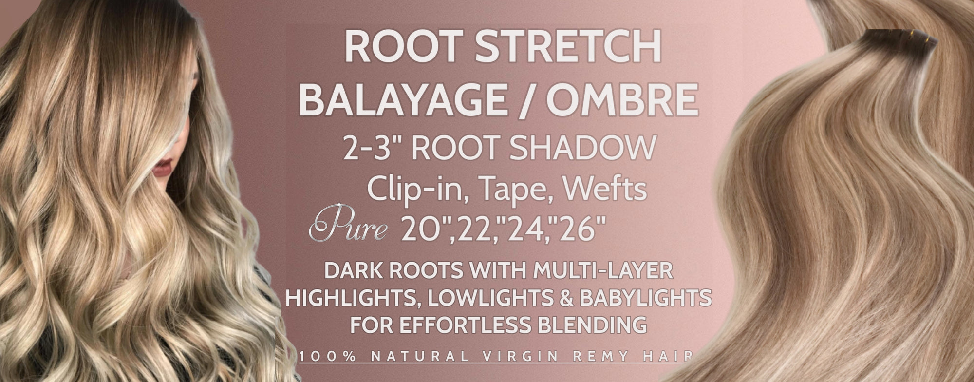 Root stretch balayage highlights hair extensions Australia
