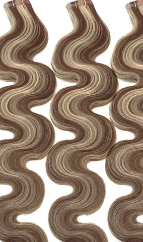 wavy curly light brown and blonde tape hair extensions.jpg