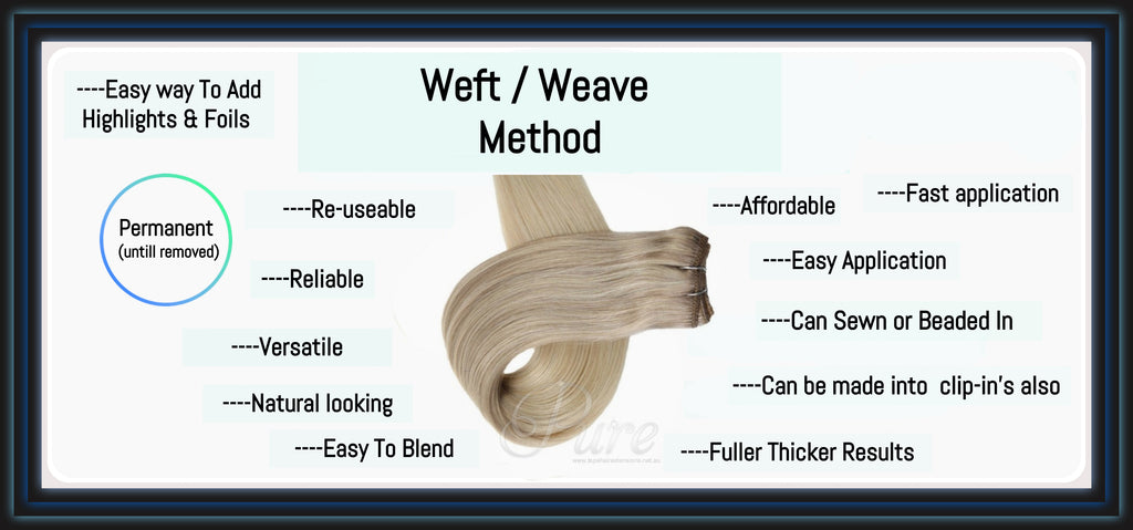 The Pro's and Con's Of Weft / Weave-In Hair Extensions