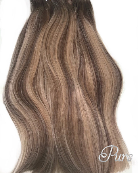 #10/18/16 caramel & brown balayage hair extensions