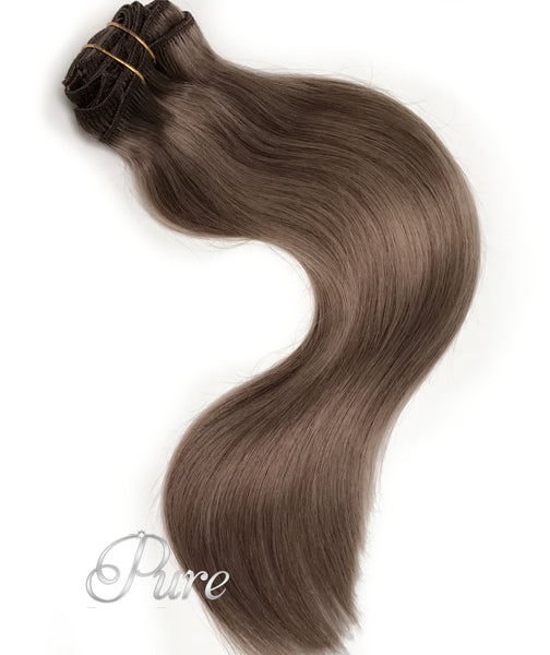 #11 - ASH BROWN - WEFT / WEAVE LUXURY RUSSIAN GRADE HAIR - Pure Tape Hair Extensions