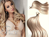#16 - WHEAT BLONDE - LIGHT CARAMEL BLONDE - TAPE-IN HAIR EXTENSIONS - LUXURY RUSSIAN GRADE - Pure Tape Hair Extensions