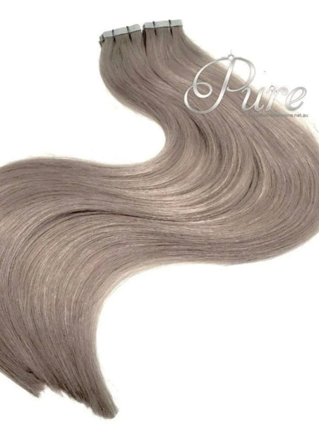 "#18 ""SMOKY BLONDE""  DARK ASH BLONDE TAPE HAIR EXTENSIONS"