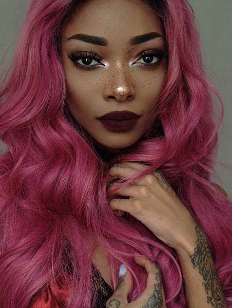 MAUVE  - PASTEL PINK - TAPE-IN SEAMLESS  HAIR EXTENSIONS - LUXURY RUSSIAN GRADE - Pure Tape Hair Extensions